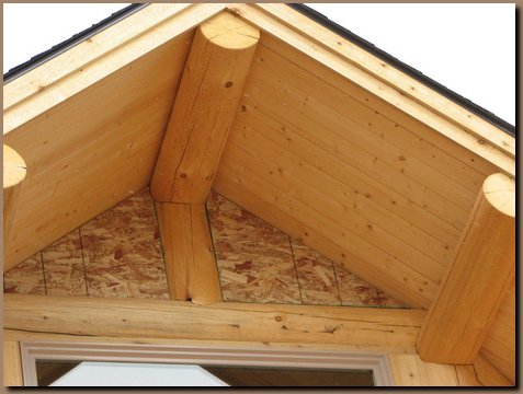 Integrated log and wall framing