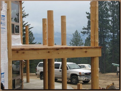 Full height deck posts