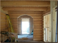 Arched Opening cut into wall
