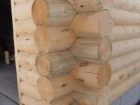 Log siding corners